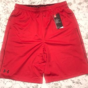 Under Armour red men's loose short. L